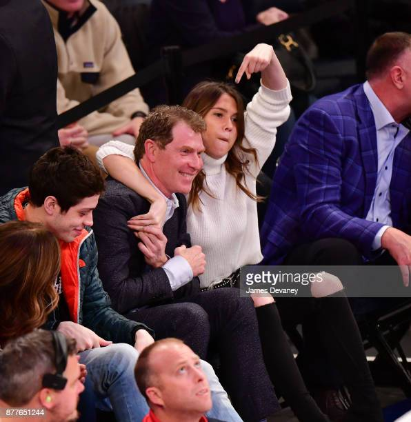 Bobby Flay attends the Toronto Raptors Vs New York Knicks game at Madison Square Garden on November 22 2017 in New York City