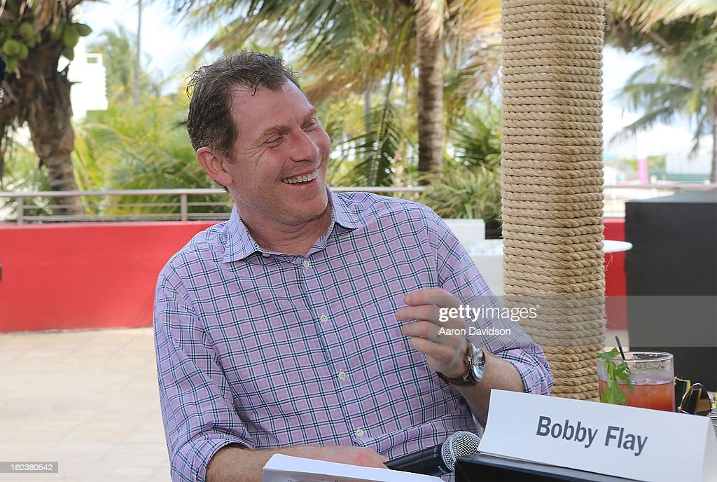 Bobby Flay attends What It Takes To Be An Iron Chef at Hotel Victor on February 22, 2013 in Miami Beach, Florida.