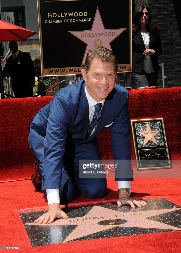 <a gi-track='captionPersonalityLinkClicked' href=/galleries/search?phrase=Bobby+Flay&family=editorial&specificpeople=220554 ng-click='$event.stopPropagation()'>Bobby Flay</a> Honored On The Hollywood Walk Of Fame on June 2, 2015 in Hollywood, California.