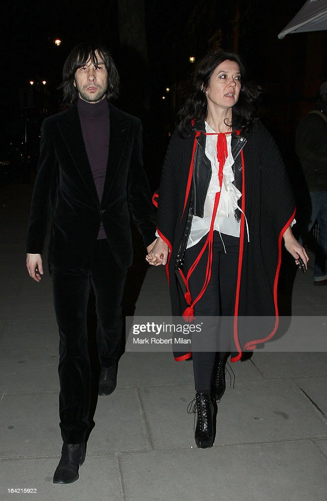 Bobby Gillespie at the private view of 'David Bowie Is' at Victoria & Albert Museum on March 20, 2013 in London, England.