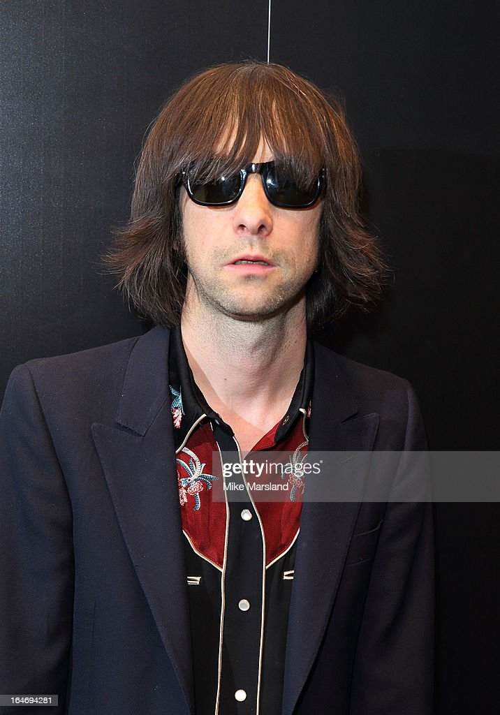 Bobby Gillespie attends Esquire's Little Black Book party at Sushi Samba on March 26, 2013 in London, England.