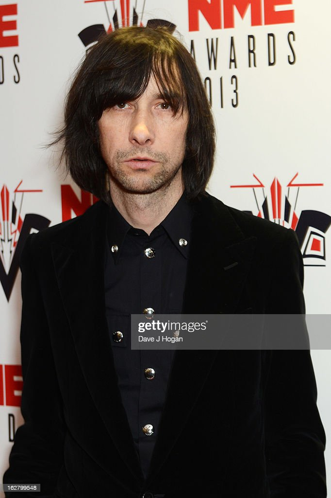<a gi-track='captionPersonalityLinkClicked' href=/galleries/search?phrase=Bobby+Gillespie&family=editorial&specificpeople=572876 ng-click='$event.stopPropagation()'>Bobby Gillespie</a> attends the NME Awards 2013 at The Troxy on February 27, 2013 in London, England.