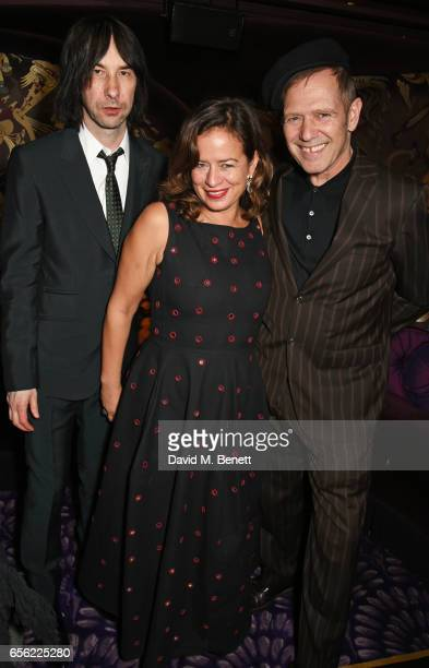 Bobby Gillespie Jade Jagger and Paul Simonon attend the Another Man Spring/Summer Issue launch dinner in association with Kronaby at Park Chinois on...