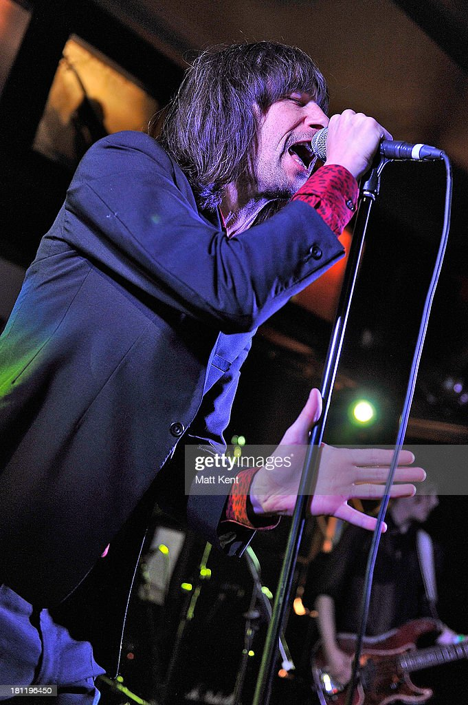 Bobby Gillespie of Primal Scream performs as part of the Absolute Radio Sessions at Hard Rock Cafe, Old Park Lane on September 19, 2013 in London, England.