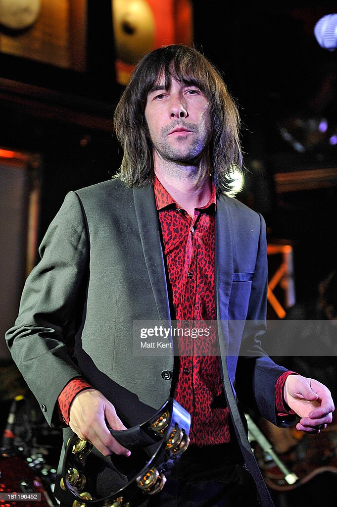 <a gi-track='captionPersonalityLinkClicked' href=/galleries/search?phrase=Bobby+Gillespie&family=editorial&specificpeople=572876 ng-click='$event.stopPropagation()'>Bobby Gillespie</a> of Primal Scream performs as part of the Absolute Radio Sessions at Hard Rock Cafe, Old Park Lane on September 19, 2013 in London, England.