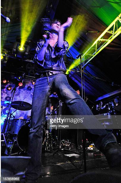 Bobby Gillespie of Primal Scream performs at Grand Social Dublin as part of the annual Arthur's Day celebrations on September 27 2012 Celebrating the...