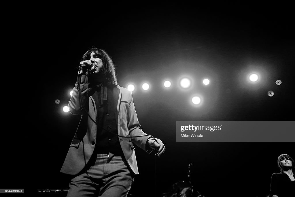 <a gi-track='captionPersonalityLinkClicked' href=/galleries/search?phrase=Bobby+Gillespie&family=editorial&specificpeople=572876 ng-click='$event.stopPropagation()'>Bobby Gillespie</a> of Primal Scream performs onstage at The Fonda Theatre on October 13, 2013 in Los Angeles, California.