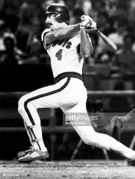 Bobby Grich of the California Angels swings at the pitch during an MLB game circa 1982 at Anaheim Stadium in Anaheim California