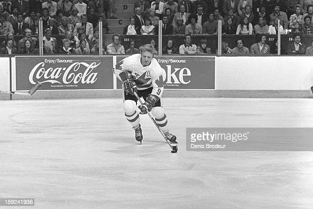 Bobby Hull of team Canada skates on the ice during a Canada Cup game against team USA at the Montreal Forum on September 5 1976 in Montreal Canada