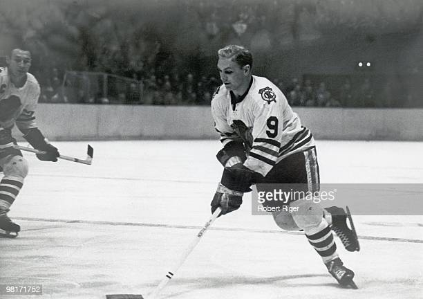 Bobby Hull of the Chicago Blackhawks skates in a circa 1960s game