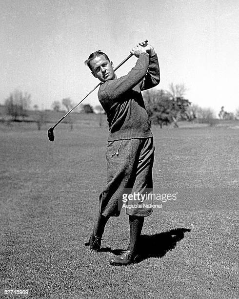 Bobby Jones in his Grand Slam year during 1930 at Augusta National Golf Club in Augusta Georgia