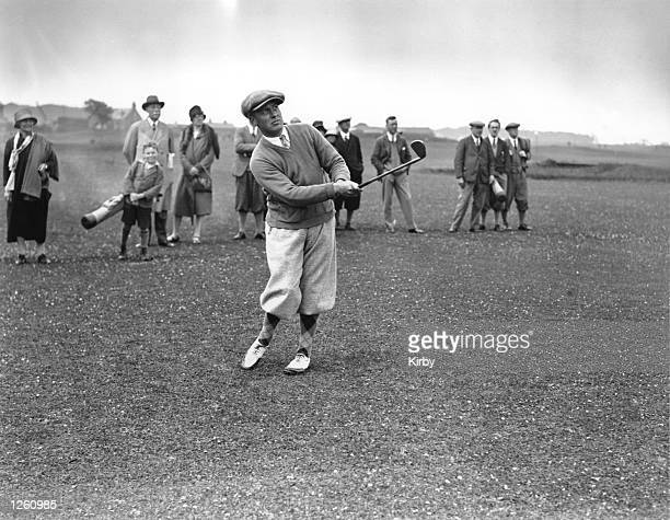Bobby Jones of the United States in practise before the start of the Open Golf Championship at St Andrews 9th July 1927 Photo by Kirby/Topical Press...