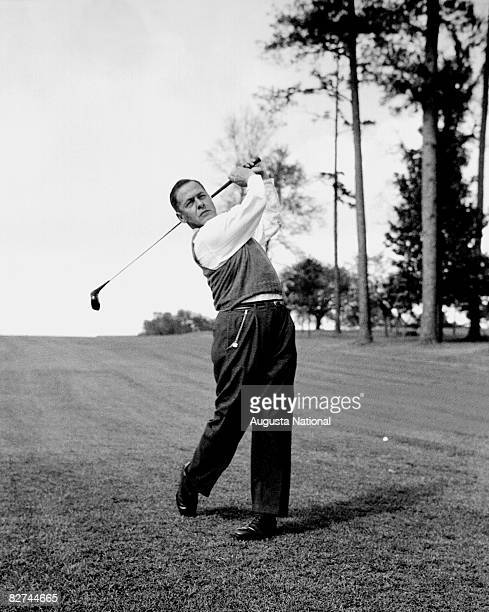 Bobby Jones takes a swing at the Augusta National Golf Club in Augusta Georgia in 1948