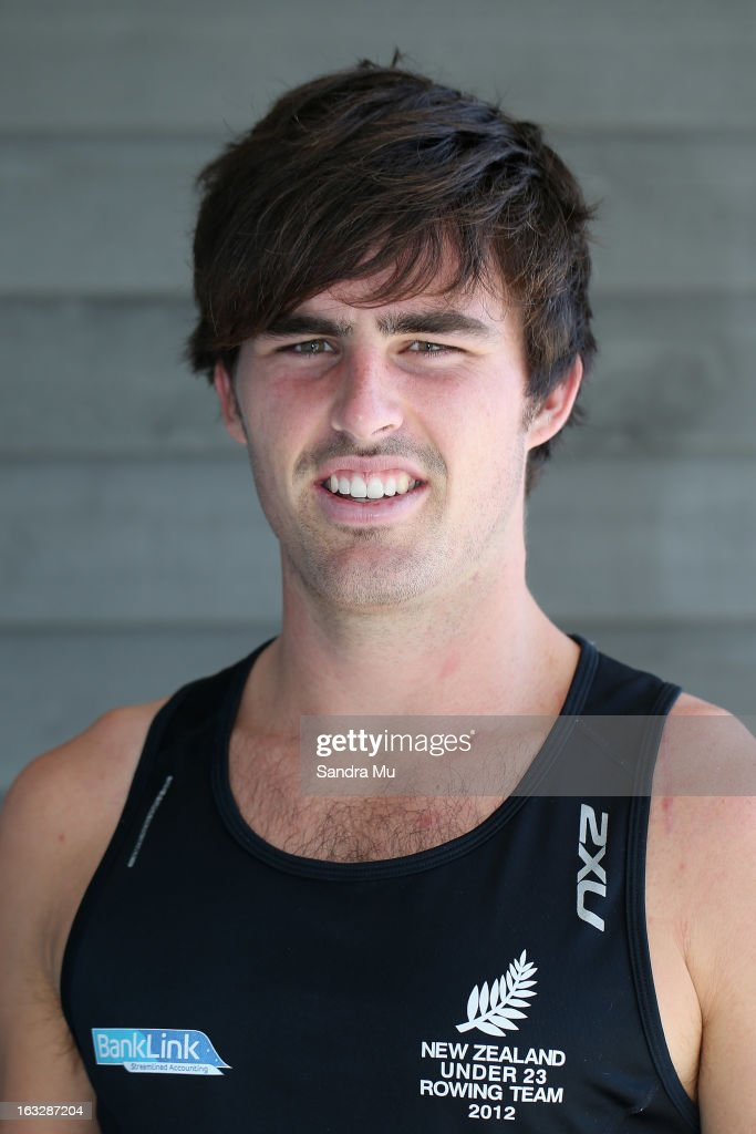 Bobby Kells poses before the New Zealand rowing squad announcement for 2013, at Lake Karapiro on March 7, 2013 in Cambridge, New Zealand.