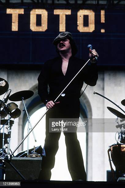 Bobby Kimball performing with Toto' at the Los Angeles Coliseum in Los Angeles California on April 9 1979