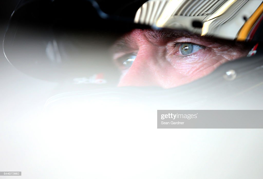 <a gi-track='captionPersonalityLinkClicked' href=/galleries/search?phrase=Bobby+Labonte&family=editorial&specificpeople=203201 ng-click='$event.stopPropagation()'>Bobby Labonte</a>, driver of the #32 OneOrlando Fund Ford, sits in his car during practice for the NASCAR Sprint Cup Series Coke Zero 400 at Daytona International Speedway on July 1, 2016 in Daytona Beach, Florida.
