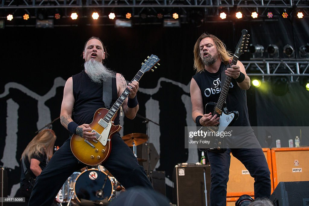 Bobby Landgraf and Pepper Keenan of Down performs live onstage during 2014 Rock On The Range at Columbus Crew Stadium on May 16, 2014 in Columbus, Ohio.