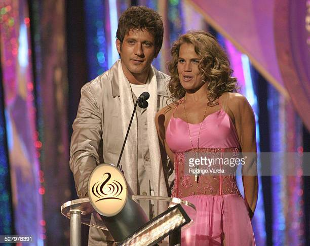Bobby Larios and Niurka Marcos during 2004 Premio Lo Nuestro Show at Miami Arena in Miami Florida United States
