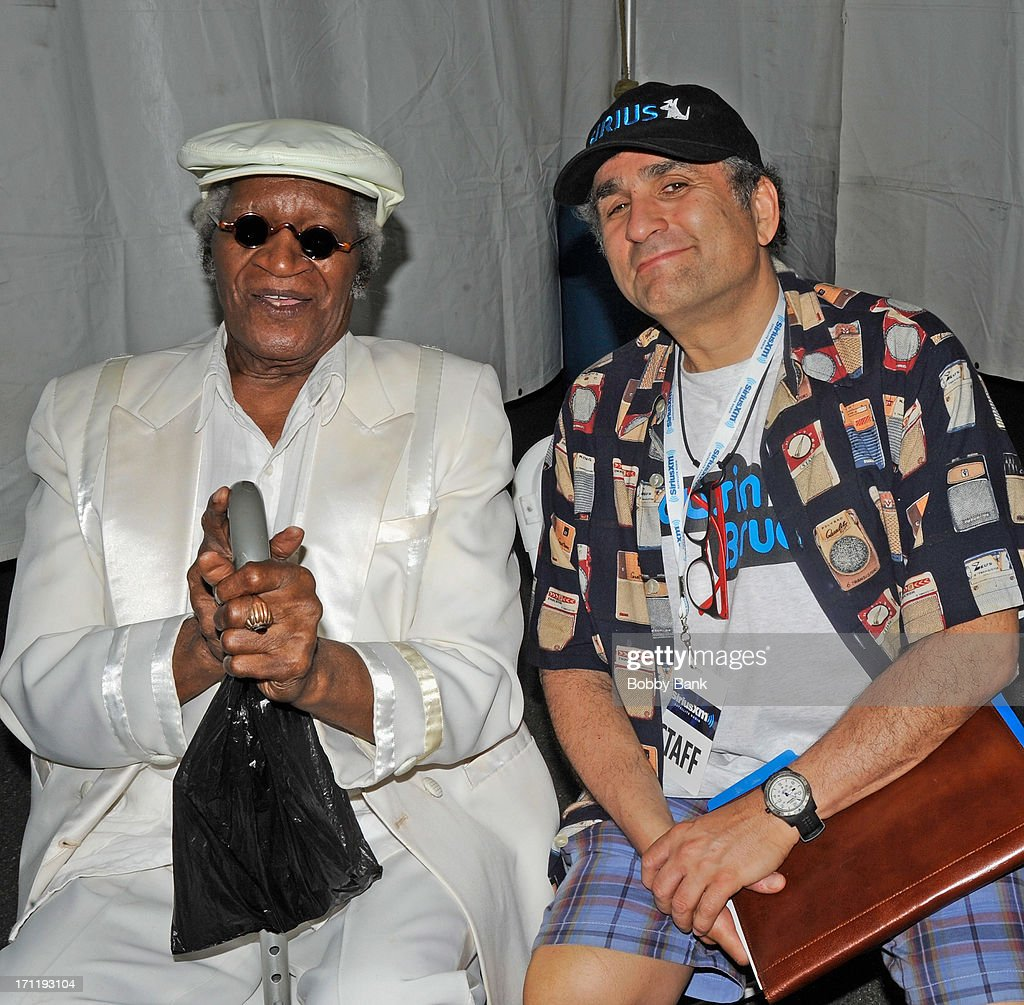 Bobby Lewis and Steve Leeds of SiriusXM attend the Cousin Brucie's First Annual Palisades Park Reunion Presented By SiriusXM at State Fair Meadowlands on June 22, 2013 in East Rutherford, New Jersey.