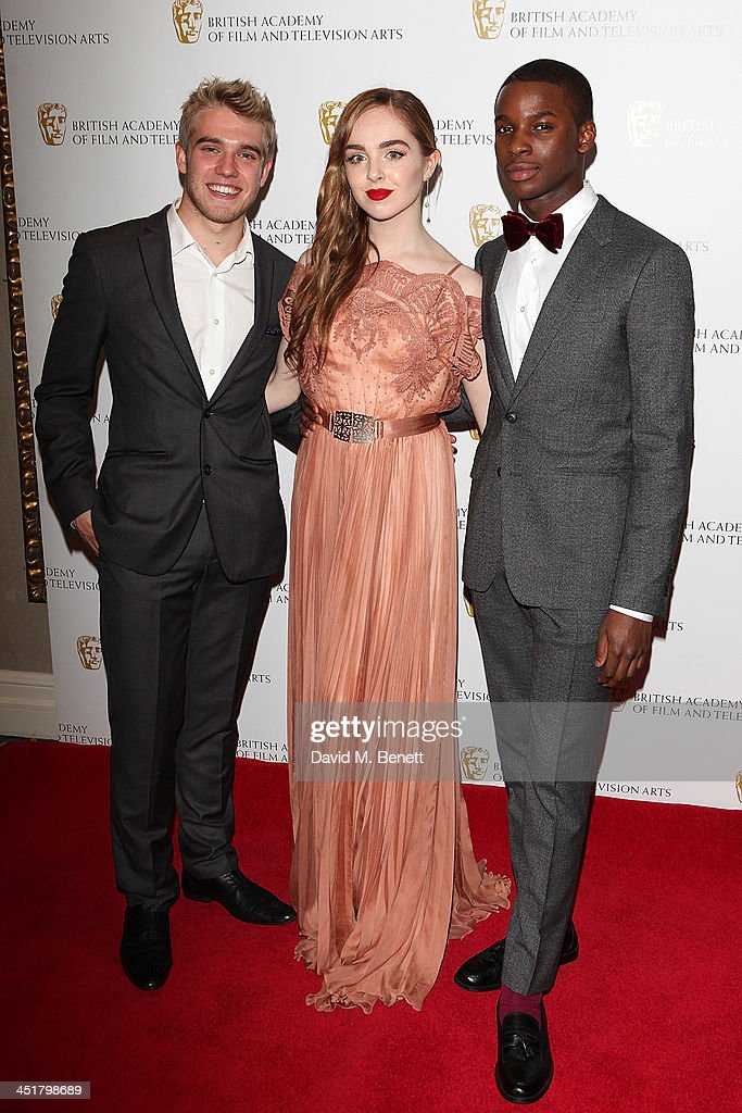 Bobby Lockwood, Louisa Connolly-Burnham and Kedar Williams-Stirling attend the British Academy Children's Awards at the London Hilton on November 24, 2013 in London, England.