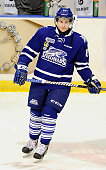 Bobby MacIntyre of the Mississauga Steelheads takes warmup prior to a game against the Belleville Bulls during the OHL game on January 16 2015 at the...