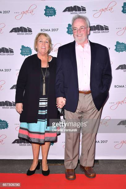 Bobby Moresco and his wife attends AMBI GALA In Honour Of Andy Garcia And Bobby Moresco on March 23 2017 in Rome Italy
