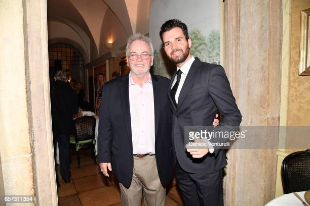 Bobby Moresco and producer Andrea Iervolino attend AMBI GALA In Honour Of Andy Garcia And Bobby Moresco on March 23 2017 in Rome Italy