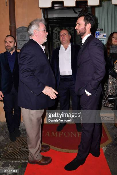 Bobby Moresco and Producer Andrea Iervolino attends AMBI GALA In Honour Of Andy Garcia And Bobby Moresco on March 23 2017 in Rome Italy
