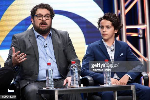 Bobby Moynihan and Jack Dylan Grazer attend the 2017 Summer TCA Tour CBS Panels at Various Locations on August 1 2017 in Los Angeles California