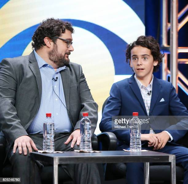 Bobby Moynihan and Jack Dylan Grazer of 'Me Myself I' speak onstage during the 2017 Summer TCA Tour CBS Panels held at Various Locations on August 1...