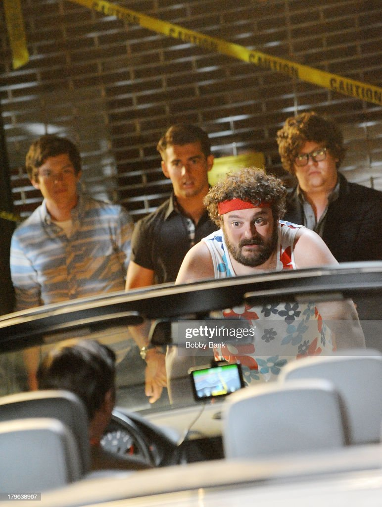 <a gi-track='captionPersonalityLinkClicked' href=/galleries/search?phrase=Bobby+Moynihan&family=editorial&specificpeople=5633398 ng-click='$event.stopPropagation()'>Bobby Moynihan</a> on the set of 'Staten Island Summer' on September 5, 2013 in Staten Island, New York.