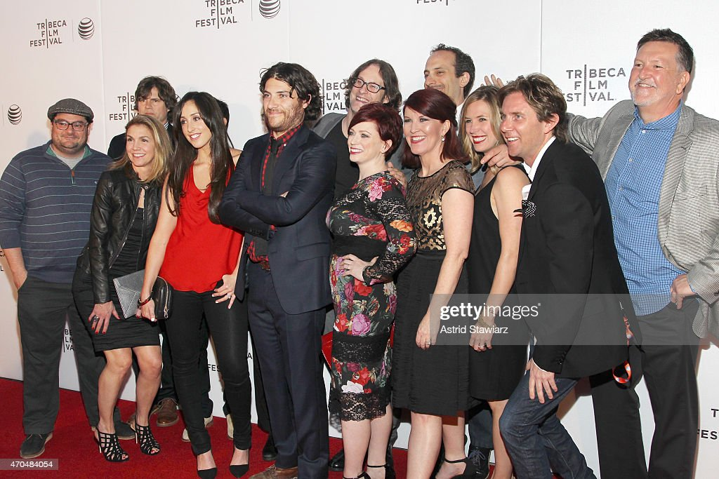 Bobby Moynihan, Tommy Joyner, Tammy Tiehel-Stedman, Catherine Reitman, Adam Pally, Don Argott, Sheena M. Joyce, Peter Grosz, Kate Flannery, Mary Grill, Jamie Lokoff, and Brian O'Conner attends the premiere of 'Slow Learners' during the 2015 Tribeca Film Festival at Spring Studio on April 20, 2015 in New York City.
