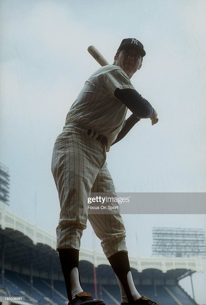 Bobby Murcer #1 of the New York Yankees poses for this photo before a Major League Baseball game at Yankee Stadium circa 1969 in the Bronx borough of New York City. Murcer played for the Yankees from 1965-66 and 1969-74.