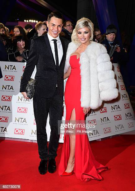 Bobby Norris and Chloe Sims arriving at the National Television Awards 2017 held at The O2 Arena London PRESS ASSOCIATION Photo Picture date 25th...