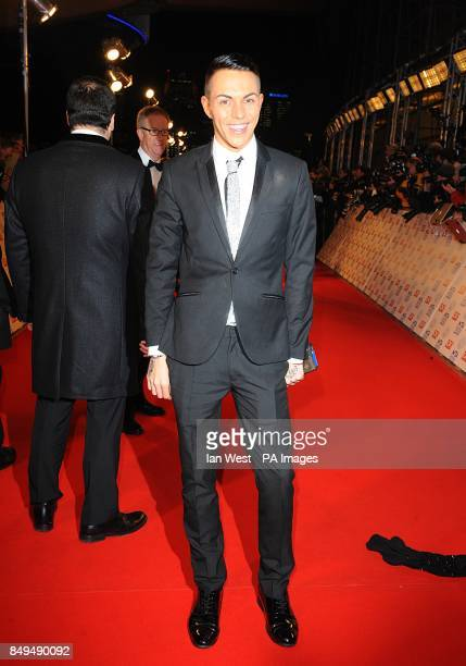 Bobby Norris arriving for the 2013 National Television Awards at the O2 Arena London