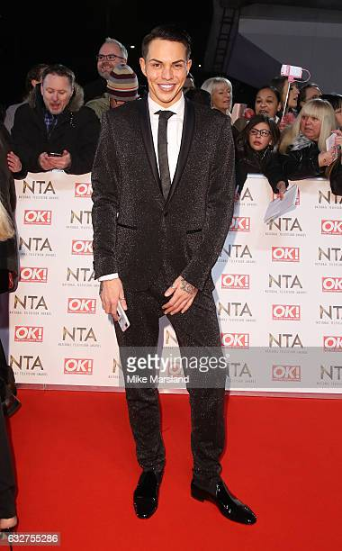 Bobby Norris attends the National Television Awards at The O2 Arena on January 25 2017 in London England