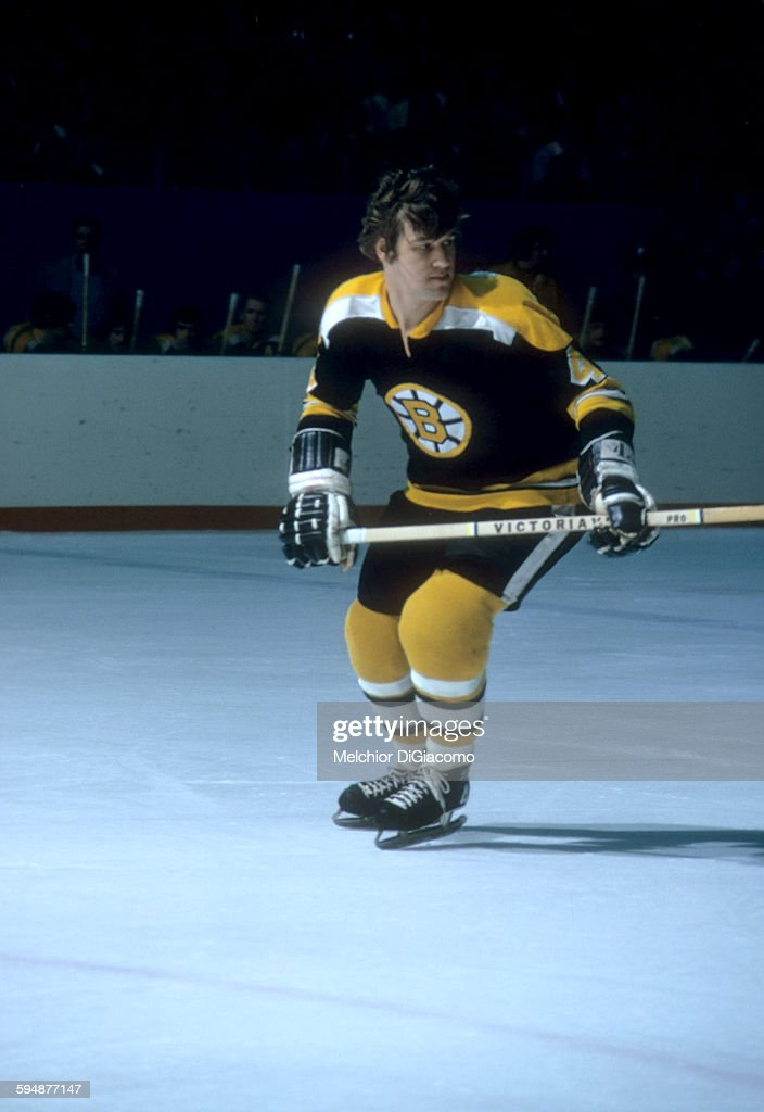 Bobby Orr of the Boston Bruins skates on the ice during an NHL game in January 1973