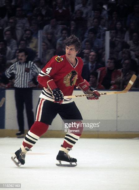 Bobby Orr of the Chicago Blackhawks skates on the ice during an NHL game circa 1978