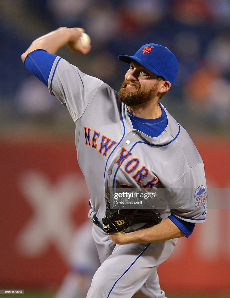 <a gi-track='captionPersonalityLinkClicked' href=/galleries/search?phrase=Bobby+Parnell&family=editorial&specificpeople=5530596 ng-click='$event.stopPropagation()'>Bobby Parnell</a> #39 of the New York Mets delivers a pitch during the game against the Philadelphia Phillies at Citizens Bank Park on April 10, 2013 in Philadelphia, Pennsylvania. The Phillies won 7-3.