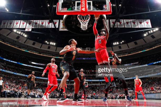 Bobby Portis of the Chicago Bulls dunks against the Cleveland Cavaliers on December 4 2017 at the United Center in Chicago Illinois NOTE TO USER User...
