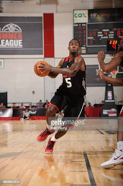 Bobby Portis of the Chicago Bulls handles the ball against the Cleveland Cavaliers during the 2015 NBA Las Vegas Summer League game on July 15 2015...
