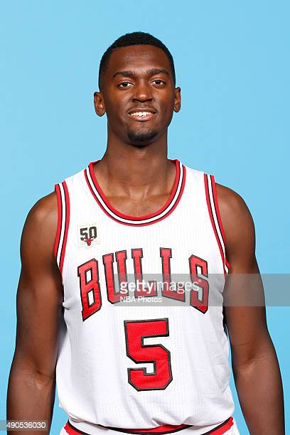Bobby Portis of the Chicago Bulls poses for a portrait during Media Day on September 28 2015 at the Advocate Center in Chicago Illinois NOTE TO USER...