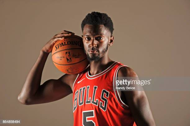 Bobby Portis of the Chicago Bulls poses for a portrait during the 201718 NBA Media Day on September 25 2017 at the United Center in Chicago Illinois...