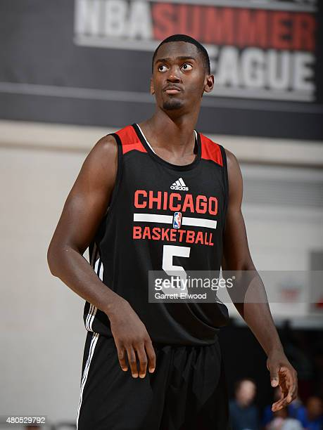 Bobby Portis of the Chicago Bulls stands on the court during a game against the Toronto Raptors on July 12 2015 at the Cox Pavilion in Las Vegas...