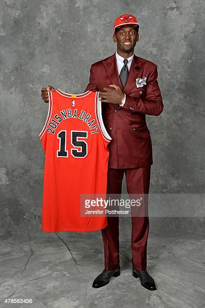 Bobby Portis poses for a portrait after being drafted number twentytwo overall by the Chicago Bulls at the Barclays Center on June 25 2015 in the...