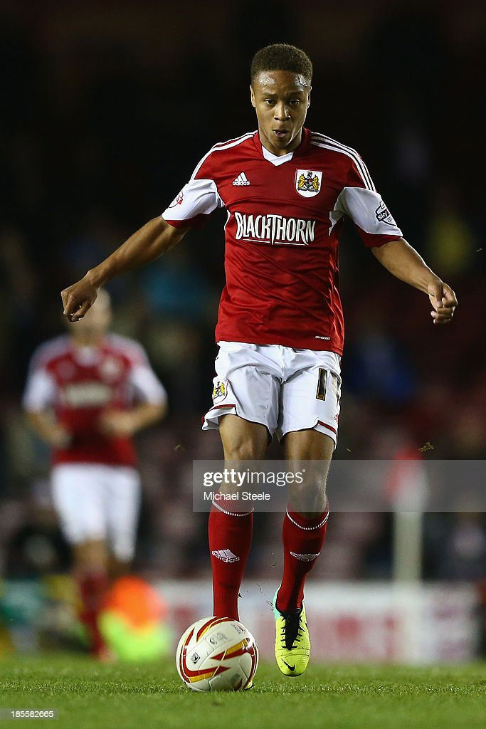 Bobby Reid of Bristol City during the Sky Bet League One match between Bristol City and Brentford at Ashton Gate on October 22, 2013 in Bristol, England.