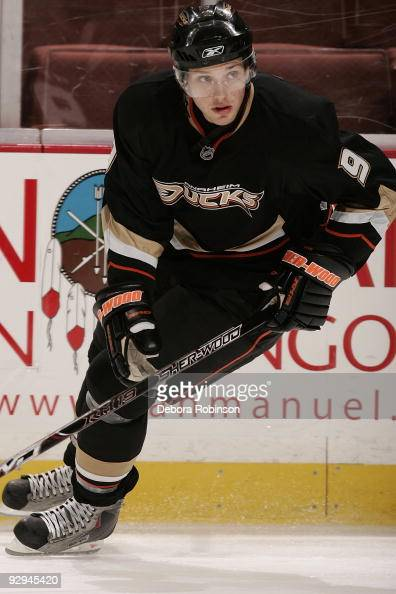 Bobby Ryan of the Anaheim Ducks skates on the ice during warm up prior to the game against the Nashville Predators on November 5 2009 at Honda Center...