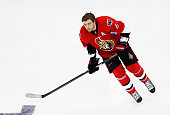 Bobby Ryan of the Ottawa Senators and Team Foligno warms up prior to the 2015 Honda NHL AllStar Skills Competition at Nationwide Arena on January 24...