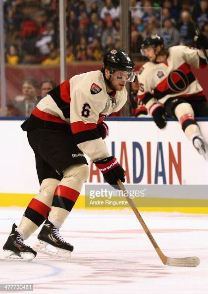 Bobby Ryan of the Ottawa Senators plays against the Vancouver Canucks during the 2014 Tim Hortons NHL Heritage Classic game at BC Place on March 2...