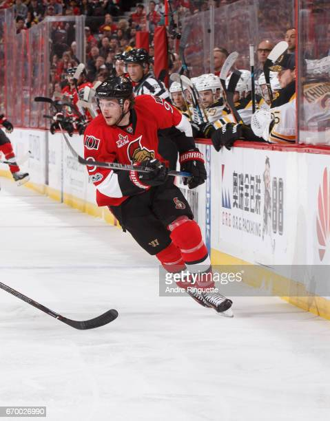 Bobby Ryan of the Ottawa Senators skates against the Boston Bruins in Game Two of the Eastern Conference First Round during the 2017 NHL Stanley Cup...